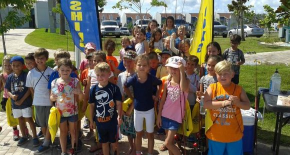Summer Campers learn to fish with the Old Salt Fishing Foundation