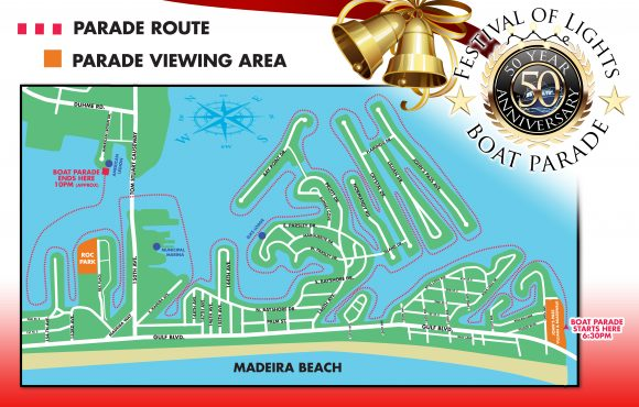 Holiday Boat Parade Map