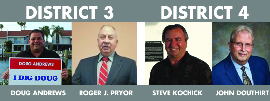 photos of district 3 and district 4 candidates for March 2019 election.